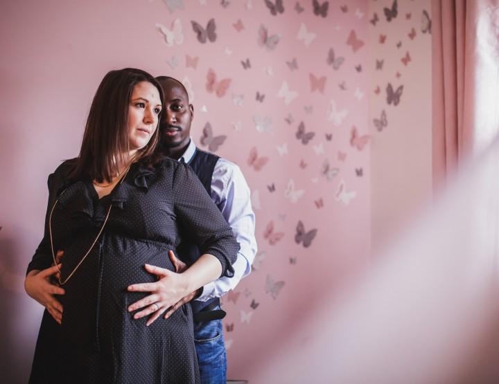 Séance grossesse de Julie à domicile à Achères 78