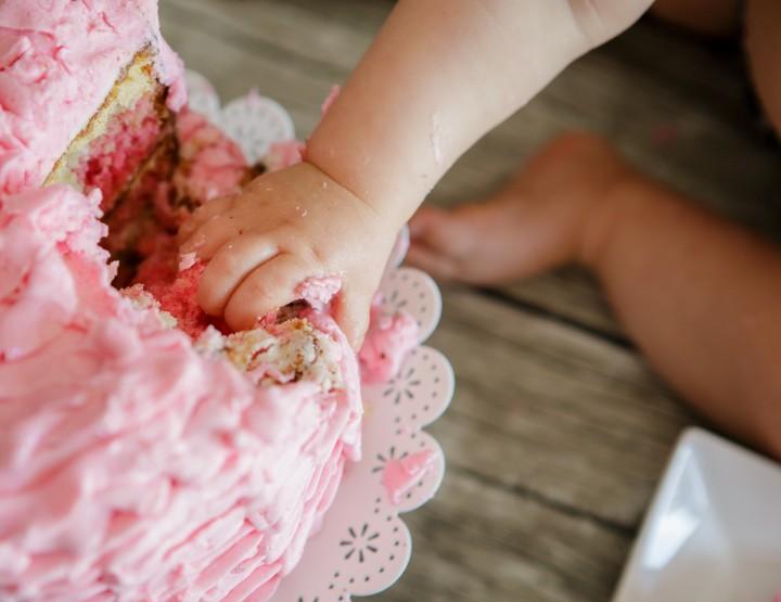 Smash the cake de Liléa 1 an au home-studio (Essonne)